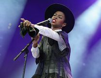 Lauryn Hill performs at the Amnesty International Concert presented by the CBGB Festival at Barclays Center on Feb. 5, 2014 in New York City. (Theo Wargo/Getty Images for CBGB)