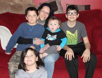 <p>Jamie Lee Tyo with her four children, Izaiah, Mya, Vito and Merrek on Friday February 17, 2017 in Cornwall, Ont. The mother of four received a letter from Canada Revenue Agency saying she was no longer eligible to receive the Child Tax Credit because her kids didn't live with her.</p><p> Lois Ann Baker/Cornwall Standard-Freeholder/Postmedia Network