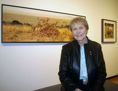 Canada's first female astronaut Dr. Roberta Bondar visited Woodstock Saturday for the opening of her exhibit Windows Onto the Wild. (HEATHER RIVERS, Sentinel-Review)