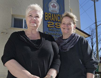 Brian Thompson/The Expositor Debbie McGregor (left) and Tracey Bellman have established the COPE Support for Families of Addiction group, which meets weekly at the Paris Legion at William and Walnut streets.