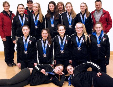The U16 Timmins Tornadoes ringette squad won silver in tournament play in Richmond Hill in early February and are getting set for their upcoming provincial 'A' tournament from March 16-19 in Pickering. SUPPLIED PHOTO/THE DAILY PRESS