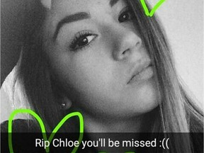 An Instagram picture posted as a tribute to Kanata teen Chloe Kotval. -