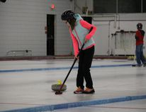 Wagner Elementary School grade 6 students had the chance to try their hand at curling February 17.