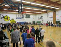 "Excitement filled the Saint Thomas More gym last friday afternoon as the entire student body gathered around to cheer on the Senior girls and boys basketball team, ""The Kodiaks""."