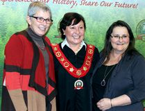 Sean Chase/Daily Observer Renfrew County Warden Jennifer Murphy (centre) is flanked by Madawaska Valley Mayor Kim Love (left) and Killaloe-Hagarty-Richards Mayor Janice Visneskie-Moore shortly after both mayors were appointed deputy warden for this year. Love and Visneskie-Moore will appear at Canada 150 events throughout the county on behalf of the warden.