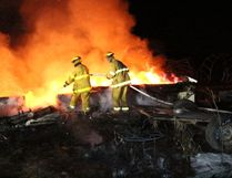 Fire crews were called to a burning building late February 21.