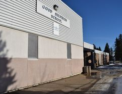 The Good Shepherd School, closed since the fire in the suburb of Beacon Hill in Fort McMurray, Alta., on Thursday, Feb. 16, 2017. Cullen Bird/Fort McMurray Today/Postmedia Network