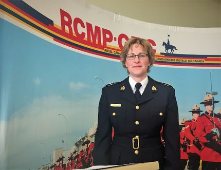 Superintendent Lorna Dicks of the Wood Buffalo RCMP poses for a photo at the Fort McMurray detachment on Thursday, February 23, 2017. Vincent McDermott/Fort McMurray Today/Postmedia Network