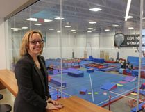 Aerials Gymnastics will be making good use of their year-old studio at the Border Paving Athletics Centre this weekend when they host the Spruce Moose Invitational with more than 600 competitors. Club president Lindsay Kiezik says gymnastics registration has steadily grown in the past few years. - Photo by Mitch Goldenberg, Reporter/Examiner