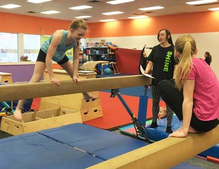 Local gymnasts from Shine Gymnastics are training for their upcoming competitions all over Alberta.