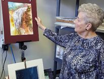 Phyllis Dorman works in her studio in the old Ministry of Natural Resources building on lower Church Street, where she spends at least two days a week creating.