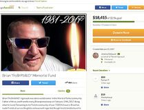 "<a href=""https://www.gofundme.com/poshybrid"" target=""_blank"">Brian Vigneault's memorial page</a> on GoFundMe. (Website screenshot)"