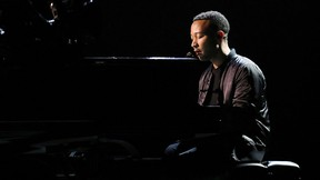 John Legend is seen during rehearsals for the 89th Academy Awards on Friday, Feb. 24, 2017. (Matt Sayles/Invision/AP)
