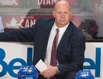 Canadiens head coach Claude Julien looks on from the bench during NHL action against the Islanders in Montreal on Thursday, Feb. 23, 2017. (Graham Hughes/The Canadian Press)
