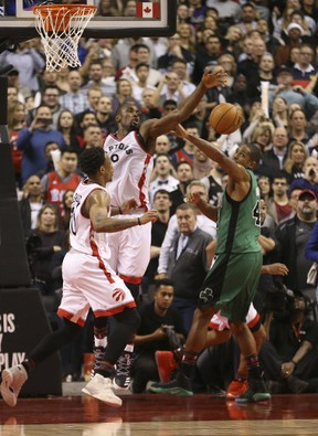 With Serge Ibaka now protecting the paint, opponents should have a tougher time scoring inside. Jack Boland/Postmedia