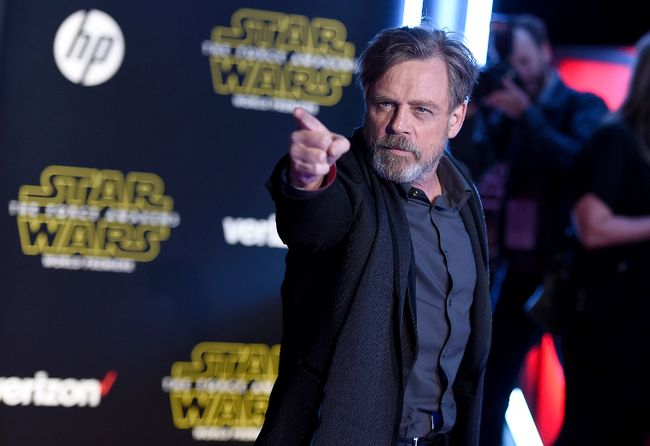 """In this Dec. 14, 2015, file photo, Mark Hamill arrives at the world premiere of """"Star Wars: The Force Awakens"""" at the TCL Chinese Theatre in Los Angeles.  (Photo by Jordan Strauss/Invision/AP, File)"""