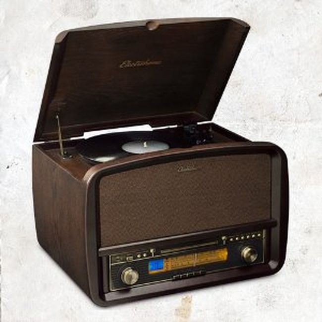 The Electrohome Signature Vinyl Record Player Classic Turntable lets you record your favourite vinyl music  so you can listen to it on other players.