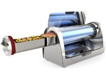The GoSun Grill is said to heat to 550F in about 20 minutes using sunlight.