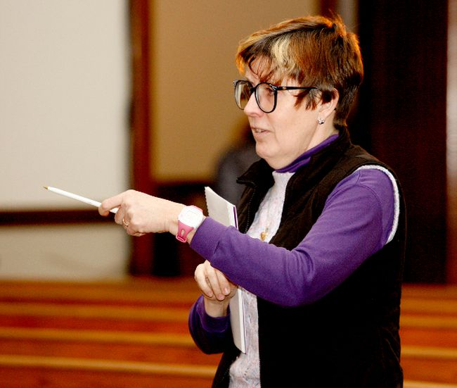 Lisa Leroux, seen in this March file photo directing The Drawer Boy, returns to the St. John's United stage, co-directing a youth musical. (FILE PHOTO)