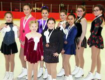 Sean Chase/Daily Observer The Pembroke Skating Club shined at the 2017 Region Six Interclub held in Renfrew on Feb. 5. Here are the award winners from the club's junior squad: (front left to right) Georgia Graveline, Rayah Blais, Mika Schori, (back left to right) Adriana Silver, Emilie Allard, Alyssa Larochelle, Hailey Desjardins, Alison Cloutier and Sydney Melmoth.