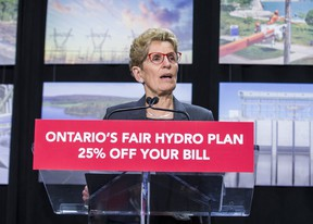 Ontario Premier Kathleen Wynne announces cuts to hydro rates on average of 25 per cent during a news conference in Toronto on Thursday, March 2, 2017. (Ernest Doroszuk/Toronto Sun)