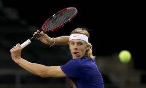 Denis Shapovalov is seen here during Davis Cup practice in Ottawa in early February.