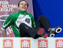 Saskatchewan skip Adam Casey takes a break during Draw 3 action against Alberta at the Tim Hortons Brier curling championship at Mile One Centre in St. John's on Sunday, March 5, 2017. (Andrew Vaughan/The Canadian Press)