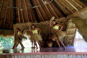 A native dance performance is a highlight of any visit to the Kalinago Barana Aute cultural centre on Dominica. (JIM BYERS PHOTO)