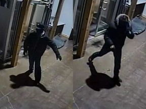 Security video of two suspects in Carlingwood smash-and-grab robberies Feb. 16 and Feb. 19.
