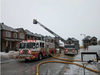 Firefighters on the scene of a fire on Yellow Birch Street near Orléans.