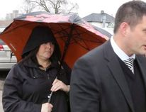 Lars Hagberg/THE CANADIAN PRESS Ontario teacher Jaclyn McLaren (left) arrives at the Quinte Courthouse in Belleville earlier this year to enter a guilty plea. McLaren was sentenced to two years in prison.