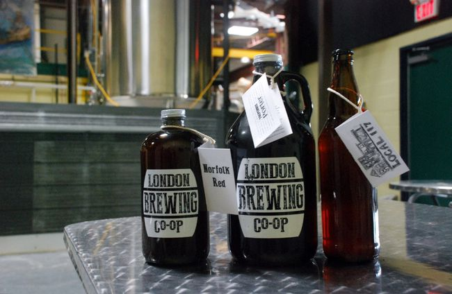 London Brewing Co-op has added 650-millilitre bottles to its familiar growlers and Boston rounds. (Wayne Newton/Special to Postmedia News)