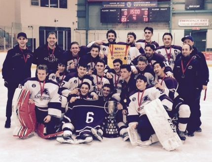 St. Mary's Knights celebrate after winning the NOSSA crown
