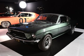 File photo of one of the Ford Mustang GT 390 car's used for Steve McQueen's film Bullitt.  (Photo credit should read MIGUEL MEDINA/AFP/Getty Images)
