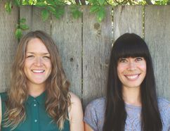 Dana VanVeller, left, and Lindsay Anderson travelled across the country to collect recipes for their new cookbook, Feast, which features several Edmonton chefs. Photo Supplied, Random House