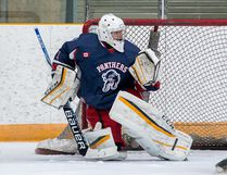 Port Hope Panthers goaltender Eric Jackson made a personal season-high 34 saves as the Panthers edged the Napanee Raiders, 3-2, in Game 3 of the Provincial Junior Hockey League Tod Division final. Port Hope leads the series, 3-0. (Tim Gordanier/The Whig-Standard/Postmedia Network)
