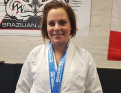Jessie Plant, will be competing at the Pan Jiu-Jitsu IBJJF Championship in Irvine, California from Mar. 15-19. The St. Thomas native has only been training in Jiu-Jitsu for three years. (Laura Broadley/Times-Journal)