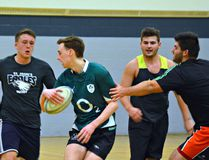 St. John's College senior boys rugby players practise earlier this week in preparation for the team's tour to Ireland over the March break. (Submitted Photo)
