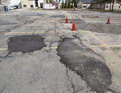 The parking lot at the Northridge Municipal Golf Course has required multiple repairs over the past few years. (Brian Thompson/The Expositor)
