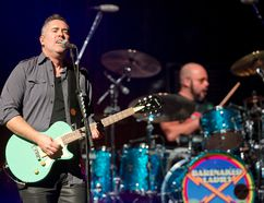 Barenaked Ladies lead singer Ed Robertson and drummer Tyler Stewart perform with the band at Budweiser Gardens in London, Ont., in November 2015. The band has announced a national tour, including a show Oct. 11 at the Imperial Theatre in Sarnia. File photo/The London Free Press/Postmedia Network