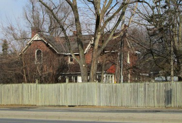 George Gray House, behind the fence at 1299 Don Mills Rd. as it looks today. (MIKE FILEY)