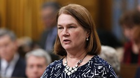 Health Minister Jane Philpott answers a question during Question Period in the House of Commons in Ottawa, Thursday, March 9, 2017. (THE CANADIAN PRESS/ Patrick Doyle)