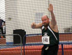Wes White earned a gold medal in his division at the masters provincials in the weight throw, as well as picked up a silver in shot put. (Contributed photo)