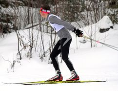 Valour's Johnathan Frampton in full flight. On Tuesday, Feb. 28 and Wednesday, March 1, the Valour High School Nordic Ski Team travelled to Timmins to participate in the 2017 Ontario Federation of School Athletic Associations (OFSAA) Nordic Ski Championships.