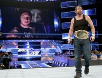 World Wrestling Entertainment Intercontinental champion Dean Ambrose appears to be on a collision course with Baron Corbin at WrestleMania 33 in Orlando on April 2. (World Wrestling Entertainment photo)