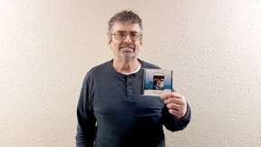 Phillip Willes is seen holding his new album Tacky Brass on Friday, March 11. Taylor Hermiston/Vermilion Standard/Postmedia Network.