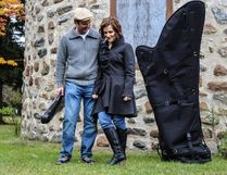 Harpist Valérie Milot and violinist Antoine Bareil will be performing at Horizon Stage on April 1. Photo supplied by Katherine Pelletier