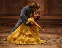 """This image released by Disney shows Dan Stevens as The Beast, left, and Emma Watson as Belle in a live-action adaptation of the animated classic """"Beauty and the Beast."""" (Disney handout)"""