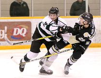 The Sherwood Park Crusaders were unable to keep the Bonnyville Pontiacs off-balance, losing their best-of-five, opening-round playoff series 3-1. Photo Courtesy Target Photography