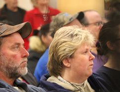 Residents packed both the afternoon OEB meeting at the Innisfil Town Hall, and the evening meeting at the Lakeshore Library, to express opposition to proposed electricity rate hikes by InnPower, on Thursday March 9, 2017. Miriam King/Innisfil Examiner/Postmedia Network